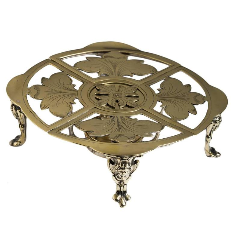 English Brass Expandable Table Trivet 19th Century At 1stdibs