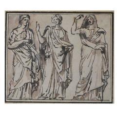 Parmigianino Figural Ink Study