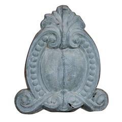 French Zinc Cartouche Address Plaque