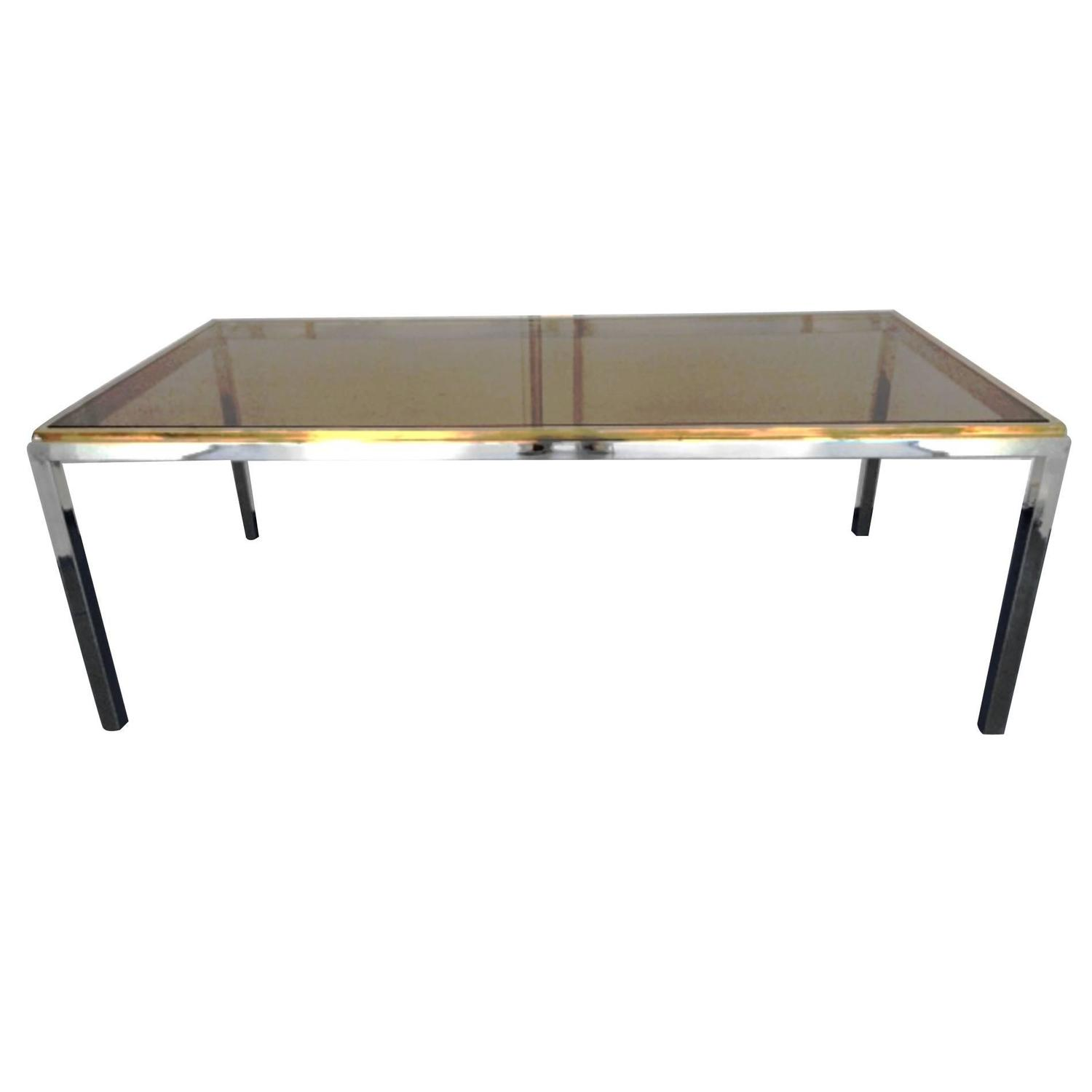 Nice dining room table in the style of willy rizzo 1970s for Nice table styles