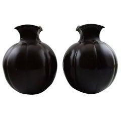 Just Andersen Art Deco Pair of Light Bronze Vases, Number 1754, 1930s