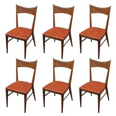 Set of Six Sculptural Paul McCobb for Calvin Dining Chairs