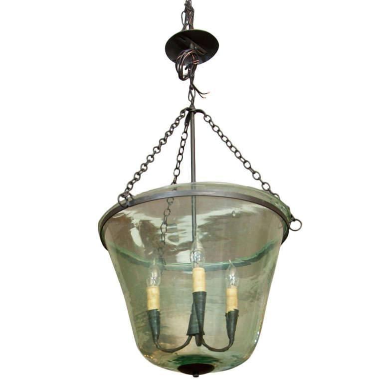 French 19th Century Handblown Garden Cloche Lighting Fixture at 1stdibs