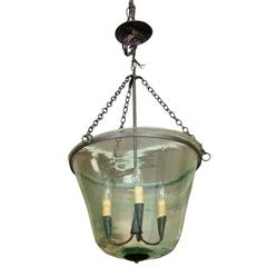 French 19th Century Handblown Garden Cloche Lighting Fixture