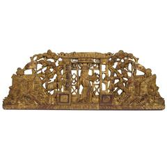 19th Century Chinese Giltwood Store Sign