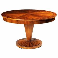 Biedermeier Inspired Pedestal Dining Table by ILIAD Design