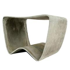 """Concrete Outdoor Mid-Century """"Loop"""" Stools by Ludwig Walser / Willy Guhl"""