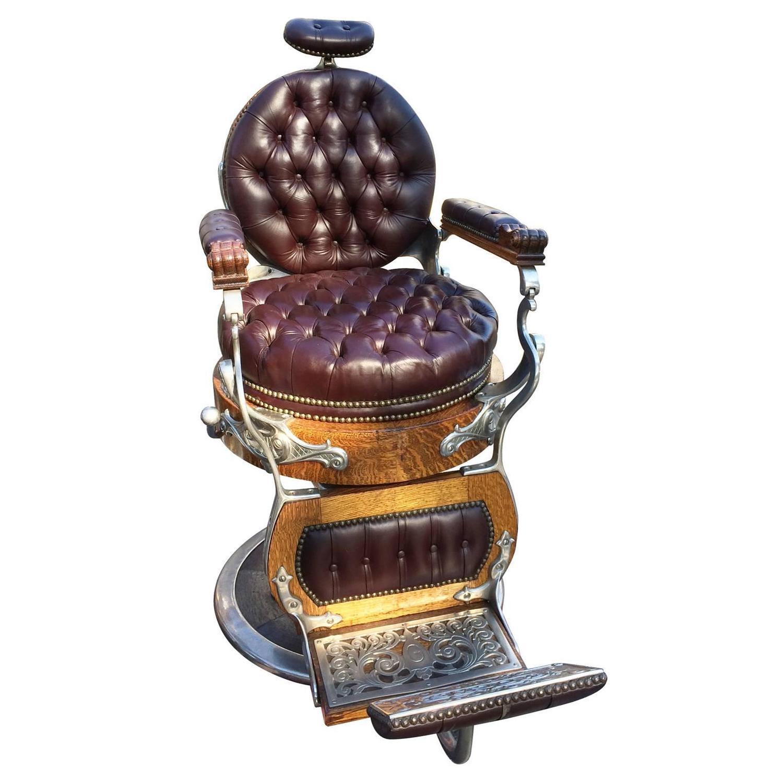 Fully Restored Kochs Barber Chair For Sale at 1stdibs