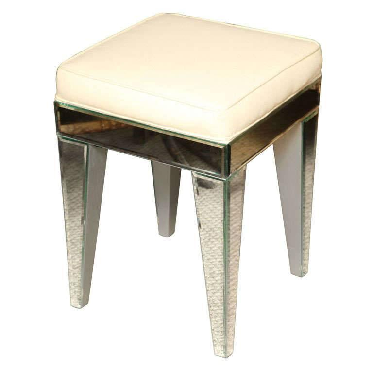 French Style  Mirrored Stool