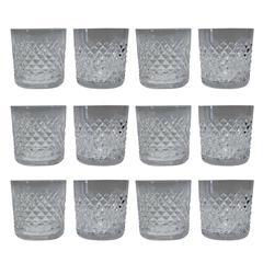 Waterford Crystal Whiskey Glasses, Set of Twelve