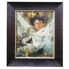Rare Oil on Canvas Painting by Louis Icart
