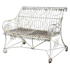 Authentic English Victorian Wirework Loveseat