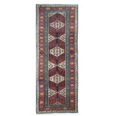 Antique Rugs, Kazak Rug, Handmade Carpet Runners Oriental Rug from Caucasus