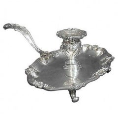 Grande Imperiale Buccellati Sterling Chamber Stick Candleholder, Rare Hollowware