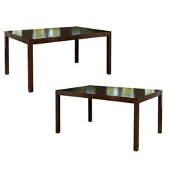 Elegant Restored Vintage Oil Drop Lacquer Extension Dining Table or Writing Desk