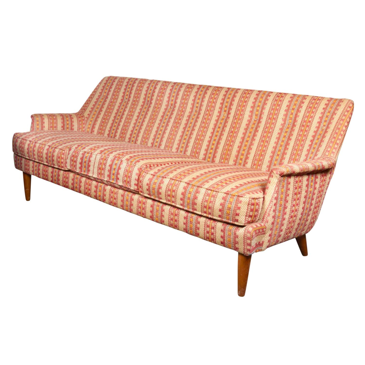 scandinavian modern 1960s sofa with woven fabric for sale at 1stdibs. Black Bedroom Furniture Sets. Home Design Ideas