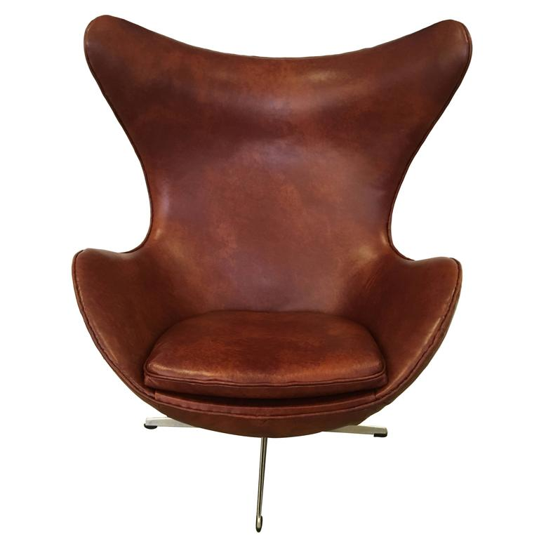 arne jacobsen egg chair produced by fritz hansen 1965 for. Black Bedroom Furniture Sets. Home Design Ideas