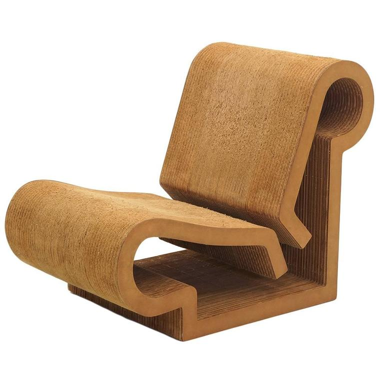 Beau Rare Original Frank Gehry, Easy Edges, Cardboard Contour Chair For Sale