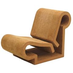 Rare Original Frank Gehry, Easy Edges, Cardboard Contour Chair