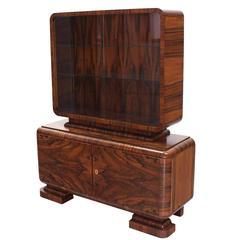 Outstanding Rosewood Art Deco Cabinet
