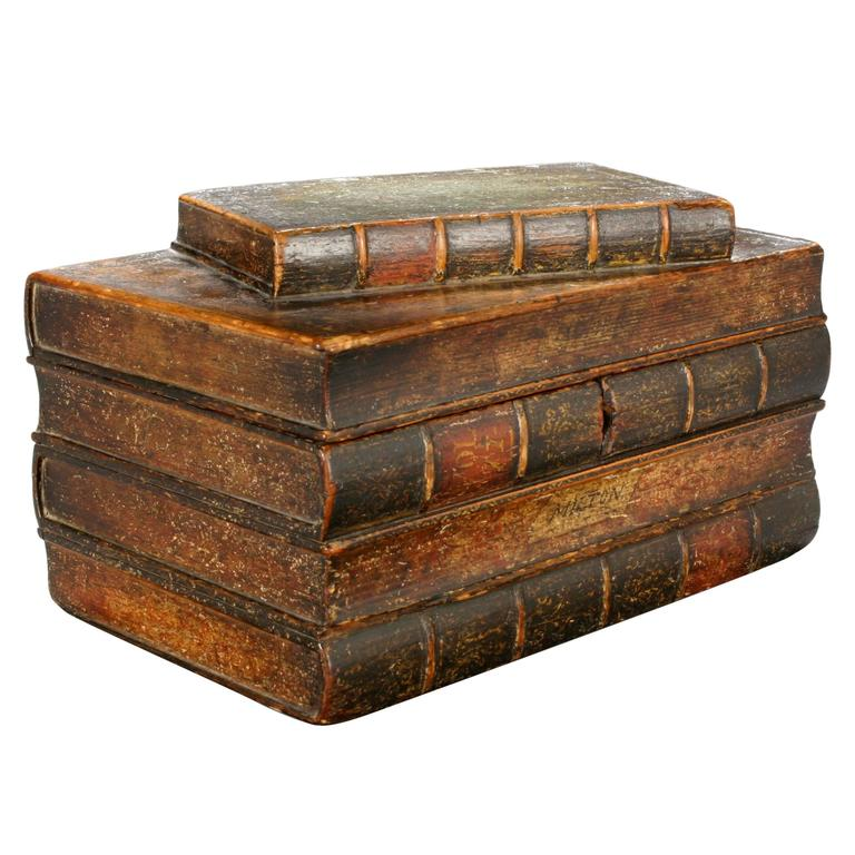 An English Painted Book Form Box Titles including Milton and Poetry For Sale