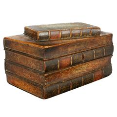 An English Painted Book Form Box Titles including Milton and Poetry