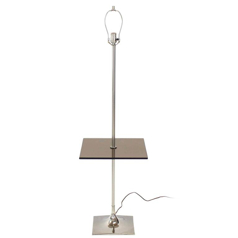 Smoked Glass Table Floor Lamp by Laurel