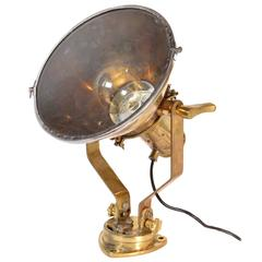 Cast Brass Nautical Ship Spot Light, circa 1930