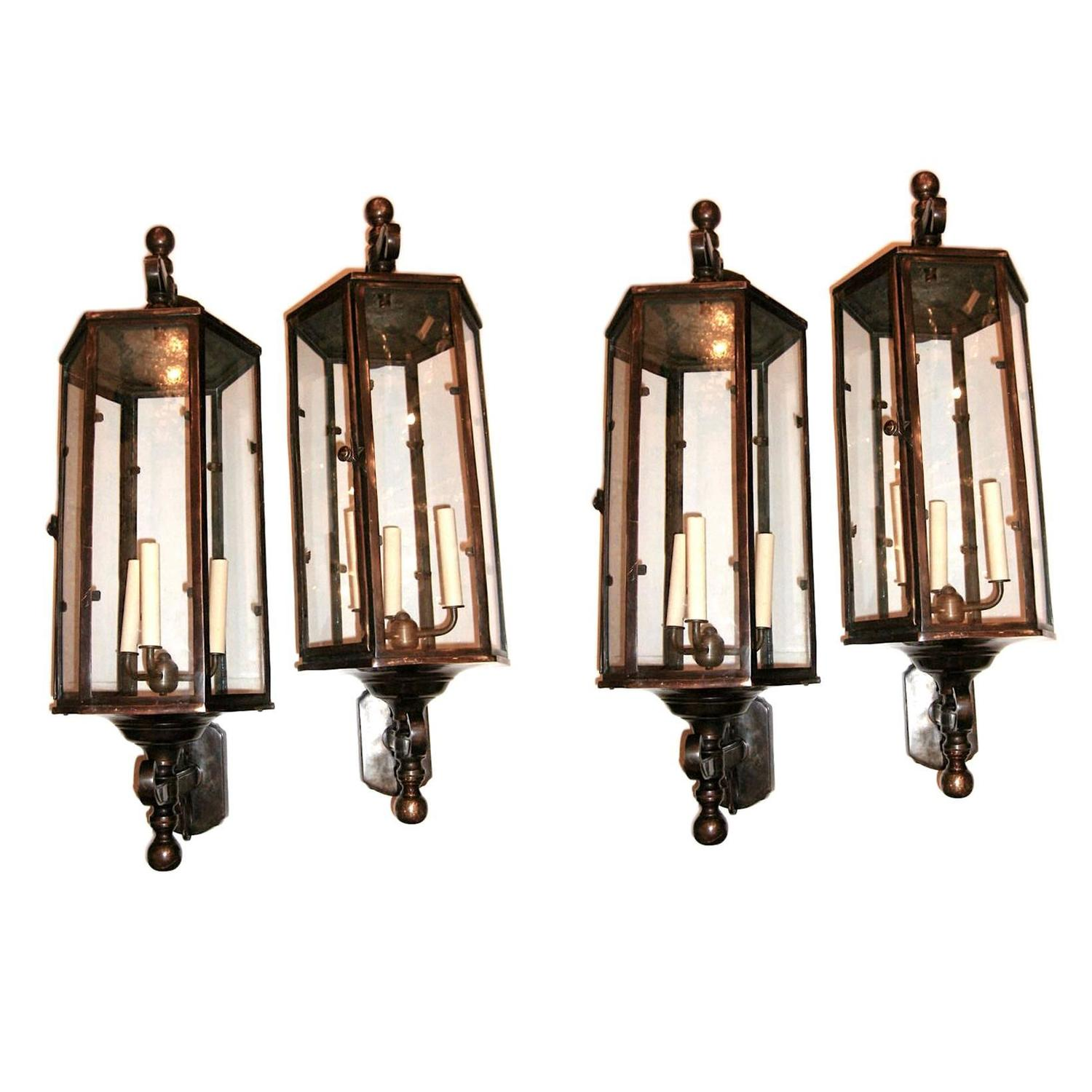 Set of Four Outdoor Lanterns For Sale at 1stdibs