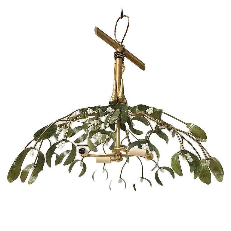 Large Mistletoe Chandelier For Sale