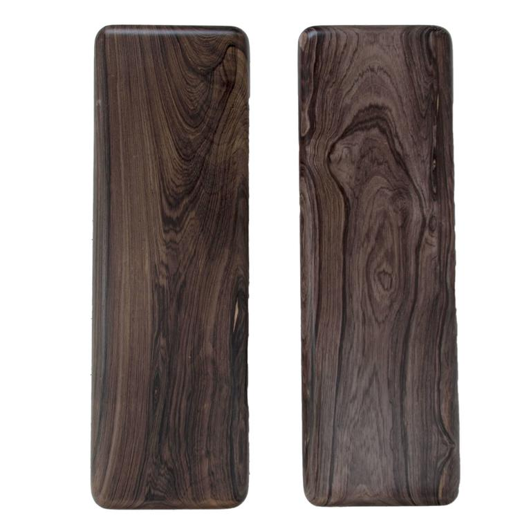 Set of Two Solid Rosewood Door Handles from Brazil