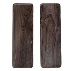 Vintage Brazilian Exotic Dark Grain Hardwood Door Handles