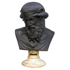 19th Century Grand Tour Bronze Bust of Dionysius