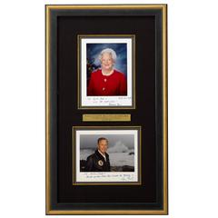 George H W Bush & Babara Bush Signed Photographs