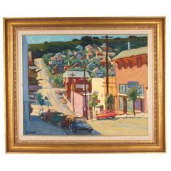 Early Second Street Crockett an Oil on Canvas by Jerrold Turner