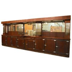 Art Deco Mahogany Bar with Glass Rods, circa 1935