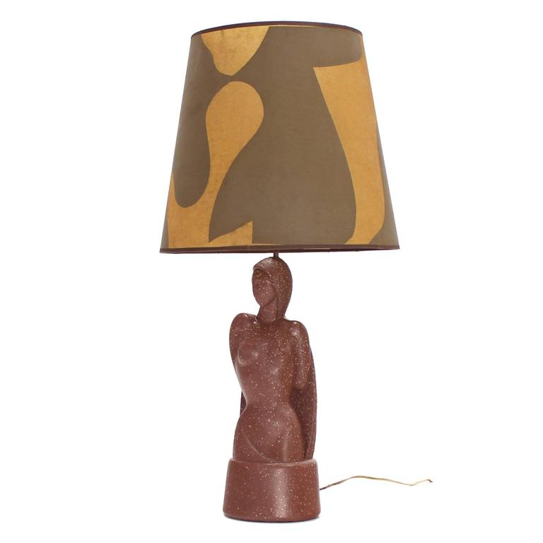 Signed Nude Sculpture Table Lamp