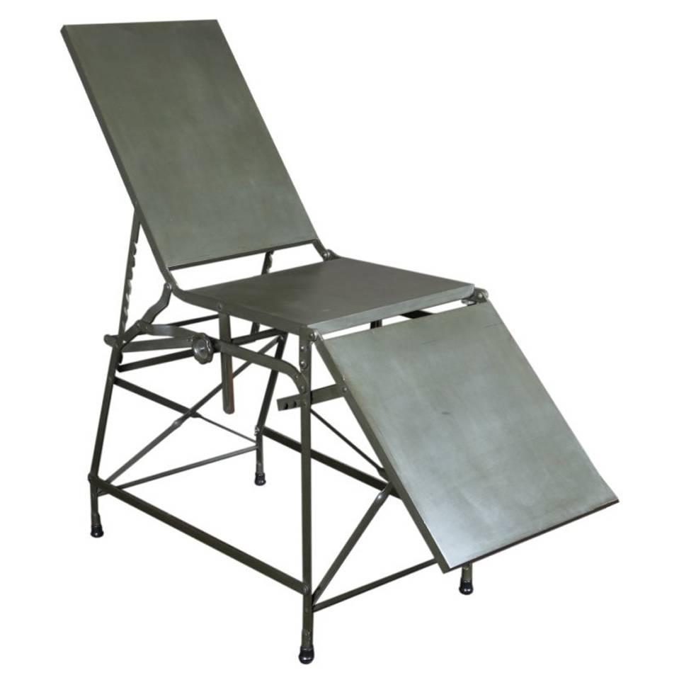 antique and vintage industrial and work tables 798 for sale at antique military army medical first aid metal portable folding bed table