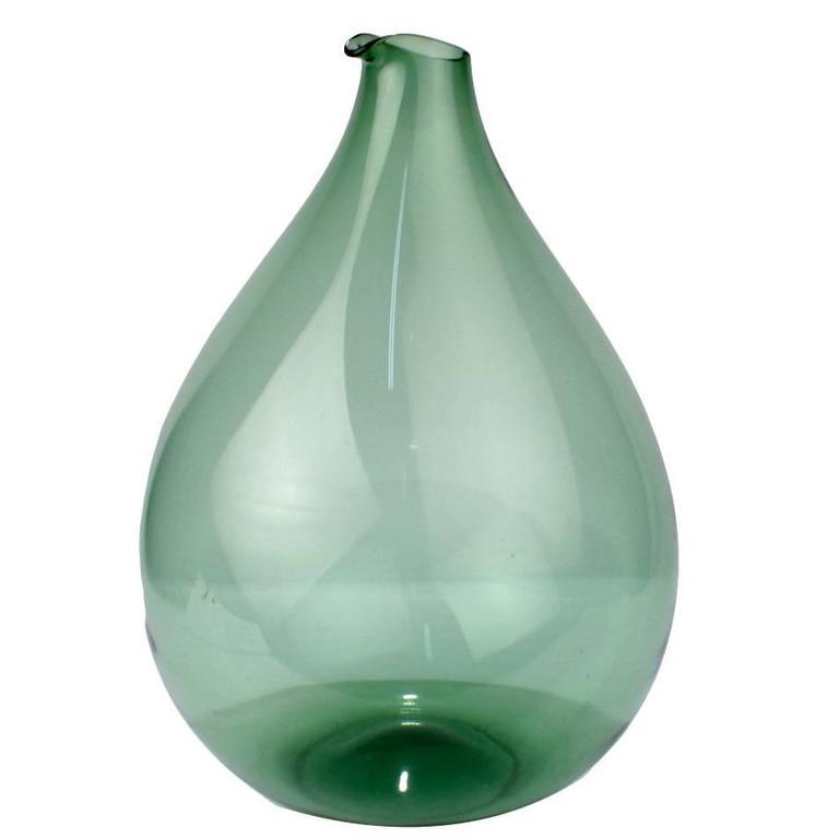 Large Blomkulla Swedish Art Glass Jug by Kjell Blomberg for Gullaskruf, 1960s