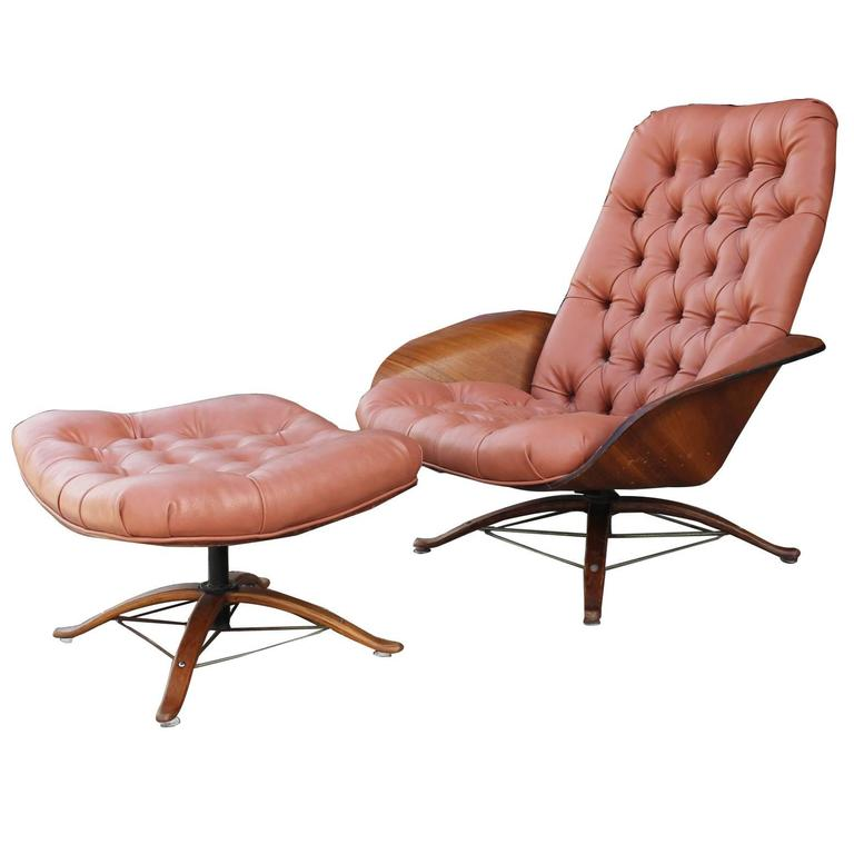George Mulhauser Molded Plywood Plycraft Lounge Chair at 1stdibs