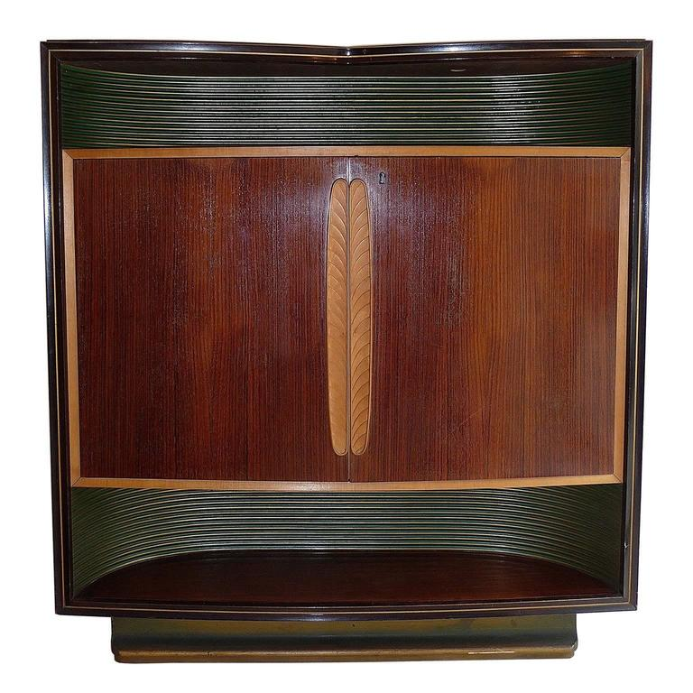 Very rare vittorio dassi cabinet bar for sale at 1stdibs for Expressive kitchen cabinets