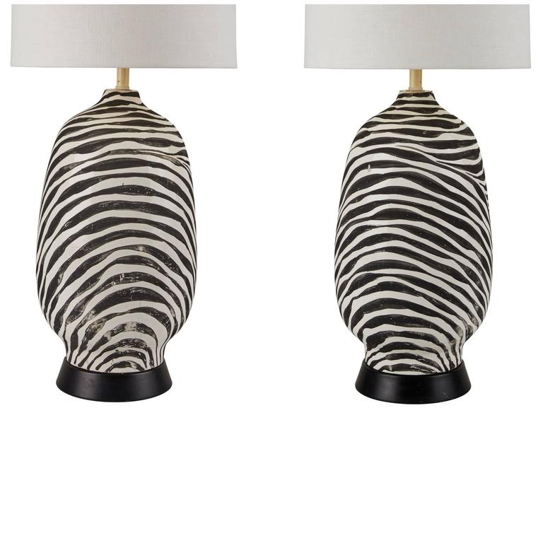 Rare Pair of Ugo Zaccagnini Table Lamps For Sale