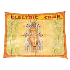 Early Sunshine Studios American Side Show Electric Chair Banner