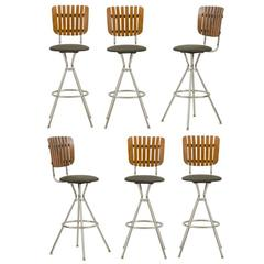 Set of Six Umanoff Counter Stools, circa 1955