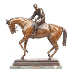 Large Equestrian Bronze Signed I.Bonheur