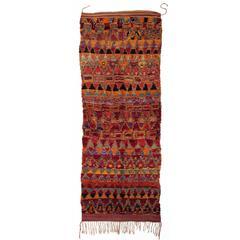 Red Vintage Berber Moroccan Rug