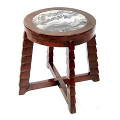 Early 20th Century Marble-Top Deco Low Table