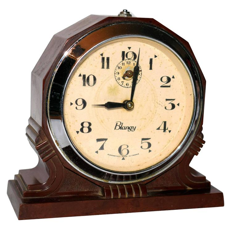 Original 1930s French Art Deco Blangy Bakelite Clock For Sale at 1stdibs
