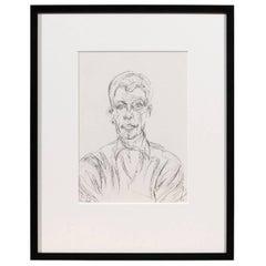 Alberto Giacometti Self Portrait Lithograph