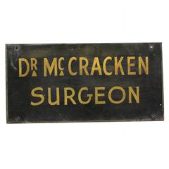 19th Century 'Doctor McCracken' Surgeon's Trade Sign